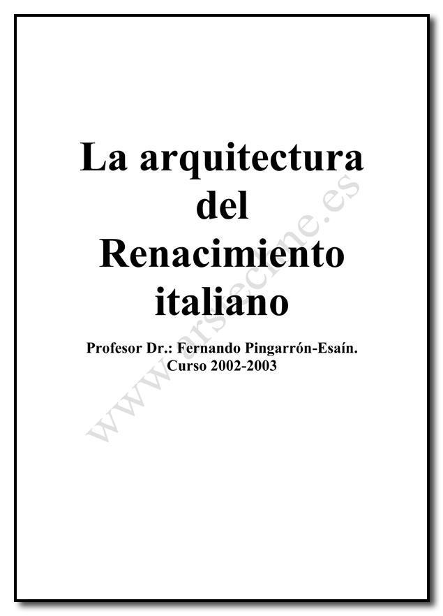Arquitectura del Renacimiento Italiano