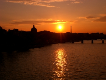 Posta de sol a París. Fotògraf: Enrique F. de la Calle